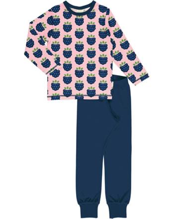 Maxomorra Pyjama lang BLACKBERRY rosa C3410-M437 GOTS