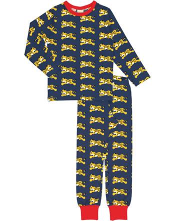 Maxomorra Pyjama lang CHEETAH blau XA23-11A GOTS