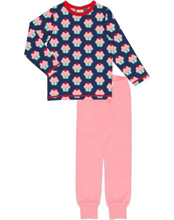 Maxomorra Pyjama set long CUPCAKE blue C3425-M437 GOTS