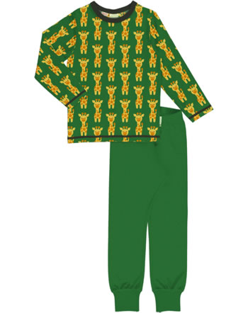 Maxomorra Pyjama set long GIRAFFE green C3424-M437 GOTS