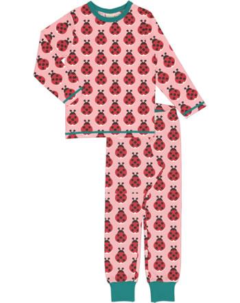 Maxomorra Pyjama lang LADYBUG rosa XA16-11A GOTS