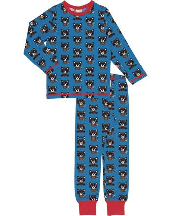 Maxomorra Pyjama lang RACCOON blau XA13-11A GOTS