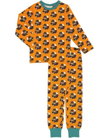 Maxomorra Pyjama lang SQUIRREL orange XA24-11A GOTS