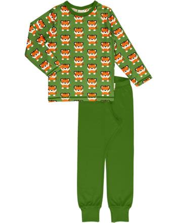 Maxomorra Pyjama lang TANGERINE TIGER grün GOTS M437-C3338