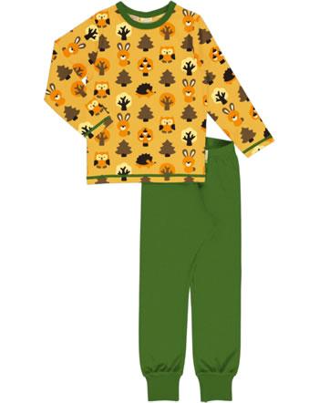 Maxomorra Pyjama set long YELLOW FOREST yellow C3423-M437 GOTS
