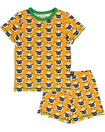 Maxomorra Pyjama Schlafanzug kurz CLASSIC SHEEP orange/grün C3501-M581