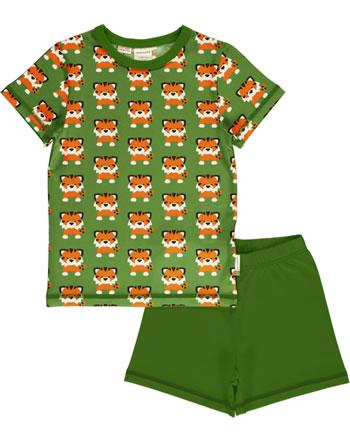 Maxomorra Pyjama Schlafanzug kurz TANGERINE TIGER grün GOTS M439-C3338
