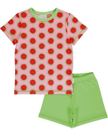 Maxomorra Pyjama Schlafanzug kurz WATERMELON rosa GOTS M439-C3349