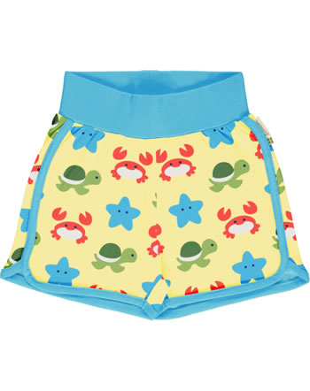 Maxomorra Runner Shorts BEACH BUDDIES gelb GOTS M530-C3347