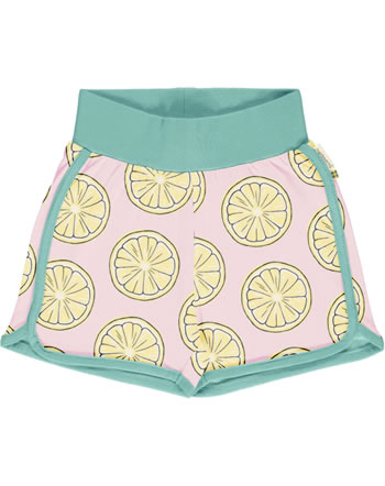 Maxomorra Runner Shorts FRESH LEMON rosa GOTS M530-C3383