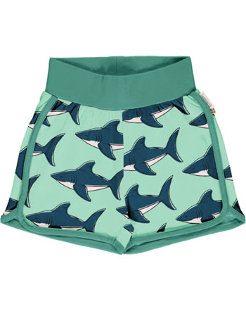 Maxomorra Runner Shorts SHARK grün GOTS M530-C3381