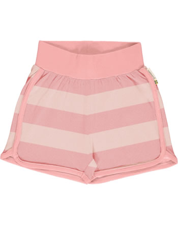 Maxomorra Runner Shorts Streifen stripe/dusty rose GOTS M535-C3369