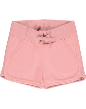 Maxomorra Runner Shorts Sweat SOLID dusty rose GOTS M536-D3310