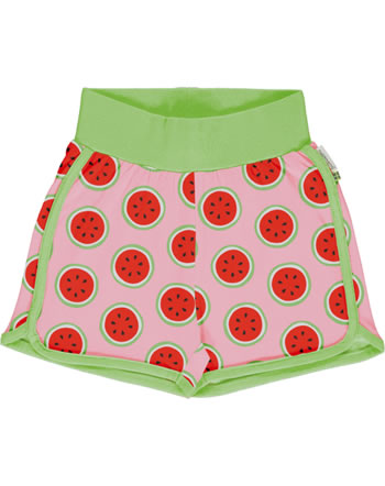Maxomorra Runner Shorts WATERMELON rosa GOTS M530-C3349