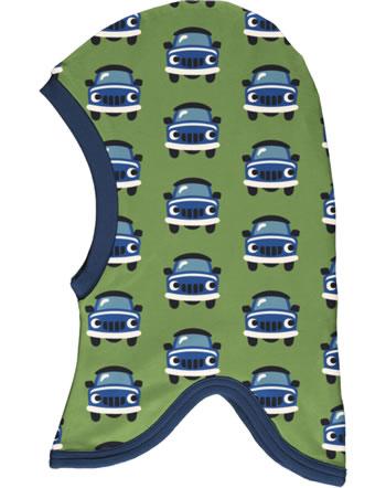 Maxomorra Schlupfmütze m. Velours-Futter CAR grün XA12-21A GOTS