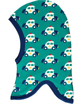 Maxomorra Balaclava hat Velour POLICE CAR green C3421-M555 GOTS