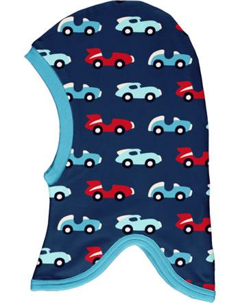Maxomorra Balaclava hat Velour RACE blue/red C3426-M555 GOTS