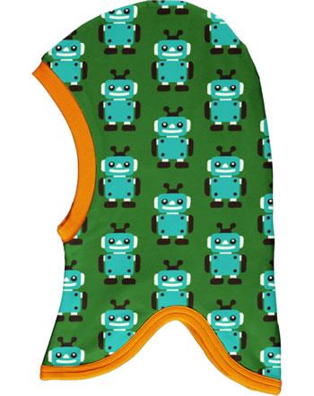 Maxomorra Balaclava hat Velour ROBOT green C3422-M555 GOTS