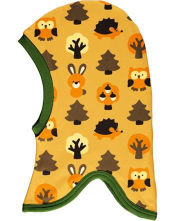 Maxomorra Balaclava hat Velour YELLOW FOREST yellow C3423-M555 GOTS