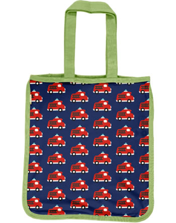 Maxomorra Shopping Bag Tragetasche FIRE TRUCK blau C3406-M494 GOTS