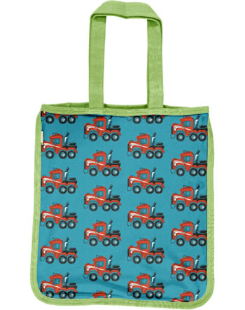 Maxomorra Shopping Bag Tragetasche HIGHWAY TRUCK blau C3415-M494 GOTS