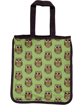 Maxomorra Shopping Bag OWL grün C3416-M494 GOTS