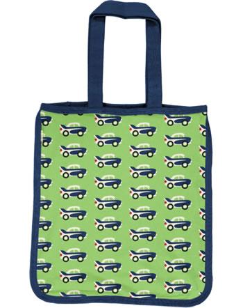 Maxomorra Shopping Bag Sweat Tragetasche CAR grün C3474-M562 GOTS