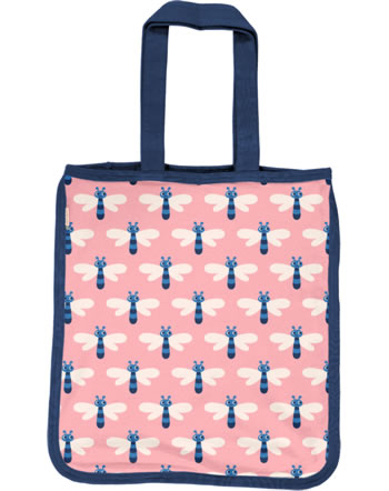Maxomorra Shopping Bag Sweat Tragetasche DRAGONFLY rosa C3472-M562 GOTS