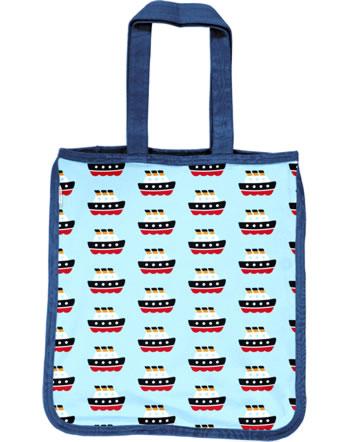 Maxomorra Shopping Bag Sweat FERRY blue C3486-M562 GOTS