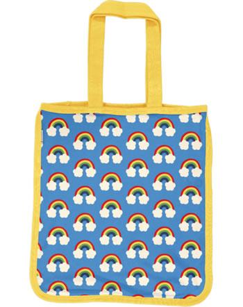 Maxomorra Shopping Bag Sweat Tragetasche RAINBOW blau C3470-M562 GOTS
