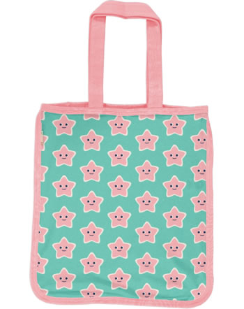 Maxomorra Shopping Bag Sweat Tragetasche STARFISH türkis/rosa C3478-M562 GOTS