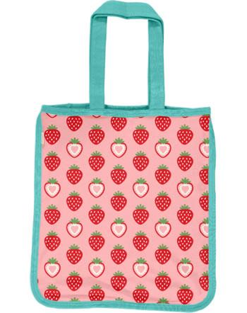 Maxomorra Shopping Bag Sweat STRAWBERRY pink C3484-M562 GOTS