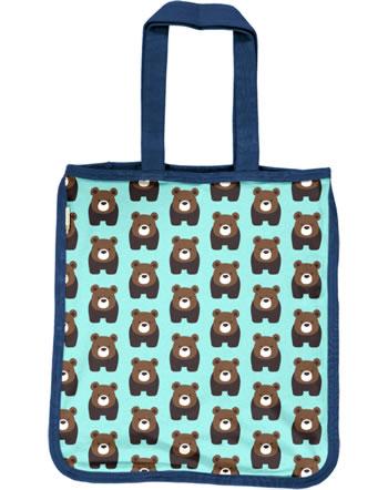 Maxomorra Shopping Bag BEAR blue C3407-M494 GOTS