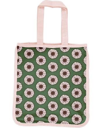Maxomorra Shopping Bag Tragetasche CALENDULA grün C3433-M494 GOTS