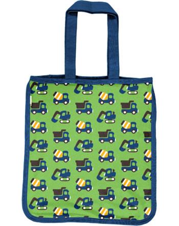 Maxomorra Shopping Bag CONSTRUCTION green C3411-M494 GOTS