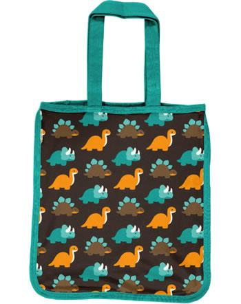 Maxomorra Shopping Bag DINOSAURS turquoise/brown C3427-M494 GOTS