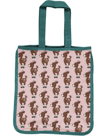 Maxomorra Shopping Bag FAWN pink/green C3436-M494 GOTS