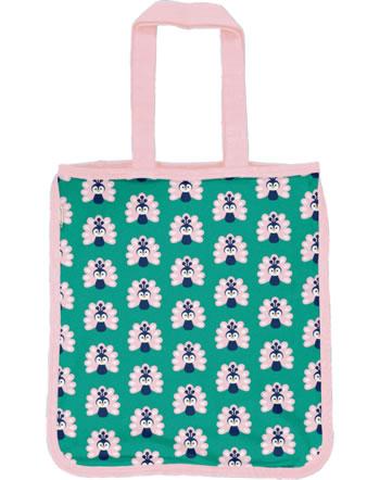 Maxomorra Shopping Bag Tragetasche PEACOCK grün/rosa C3446-M494 GOTS