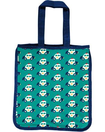 Maxomorra Shopping Bag POLICE CAR green C3421-M494 GOTS