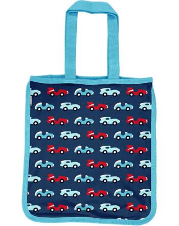Maxomorra Shopping Bag Tragetasche RACE blau/rot C3426-M494 GOTS