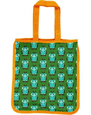 Maxomorra Shopping Bag Tragetasche ROBOT grün C3422-M494 GOTS