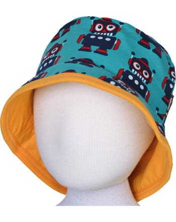 Maxomorra Hat Sun CLASSIC ROBOT petrol/orange C3500-M576 GOTS
