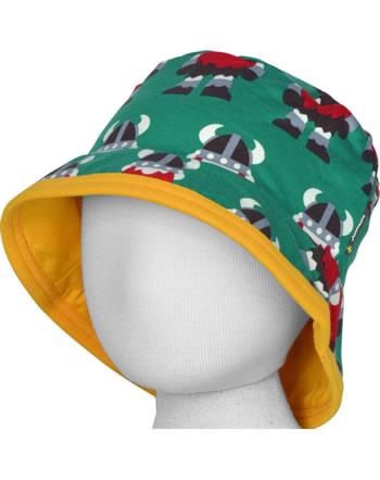 Maxomorra Hat Sun CLASSIC VIKING green/orange C3502-M576 GOTS