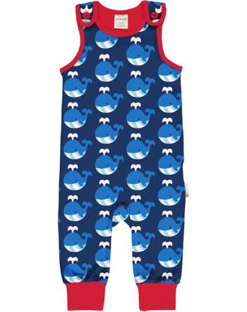 Maxomorra Playsuit WHALE blue/red C3413-M475 GOTS