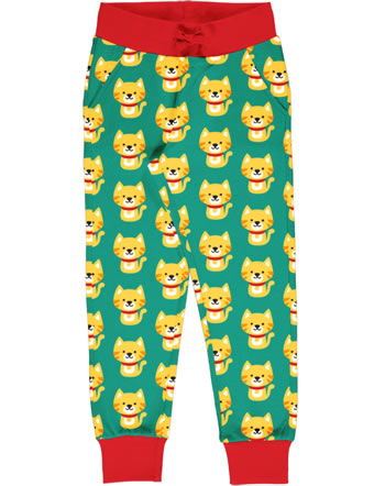 Maxomorra Sweatpants CAT turquoise/red C3429-M456 GOTS