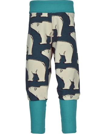 Maxomorra Sweatpants POLAR BEAR blue M457-D3297 GOTS