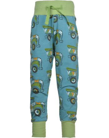 Maxomorra Pantalon PAINTED TRUCK blue/green GOTS M456-C3365