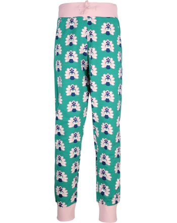 Maxomorra Sweatpants PEACOCK green/pink C3446-M456 GOTS