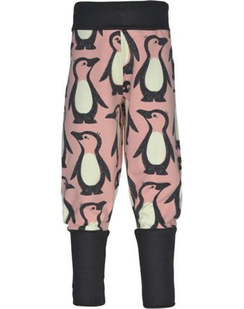 Maxomorra Sweatpants PENGUIN FAMILY pink M457-D3298 GOTS