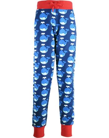 Maxomorra Sweat-Hose m. Bund WHALE blau/rot C3413-M456 GOTS